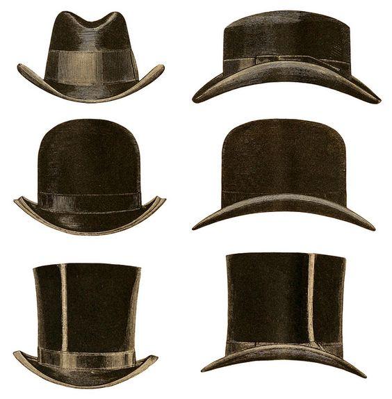 vintage gentlemen's hats - credit the originator Plaisanter~ over at Flickr.com if you use it http://www.flickr.com/photos/plaisanter/5400192718/in/set-72157625251611390