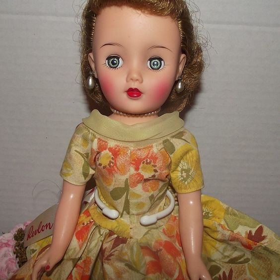 "Vintage Rare Size Miss Revlon Doll 14"" In Original Rare Tagged Dress Circa 1956 from Stuck On Dolls - stuckondolls@gmail.com for $200.00"