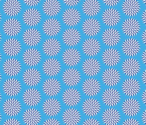 Blue Pinwheels  fabric by collective_iq on Spoonflower - custom fabric