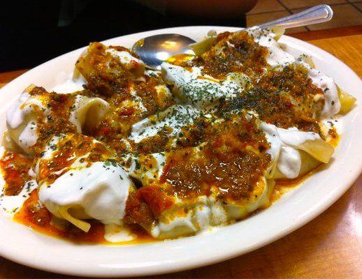 Mantoo dumplings with yoghurt pasta dumplings for Afghanistan cuisine food