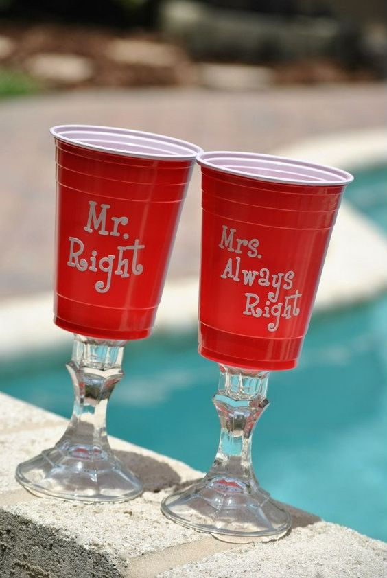 Our Wedding Glasses Love It Red Solo Cup Wedding