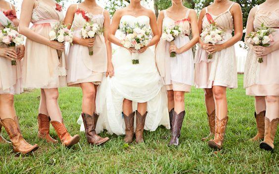 pink dresses + cowboy boots | Robyn Van Dyke