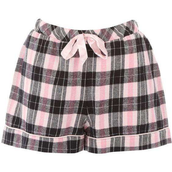 Grey Check Shorts Nightwear PJ Set (1,295 PHP) ❤ liked on Polyvore featuring intimates, sleepwear, pajamas, short pyjamas, short pajamas, grey cami, strappy cami and short pajama set