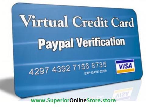 Buy Paypal Virtual Credit Card Vcc Virtual Credit Card Secure