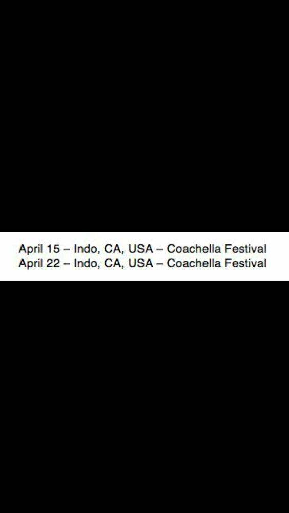 Beyoncé TWENTYSEVENTEEN World Tour 2017 Coachella 15th April and 22nd April