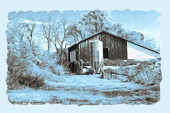 Pennsylvania Art Print Rustic Barn Print Country by FineArtography