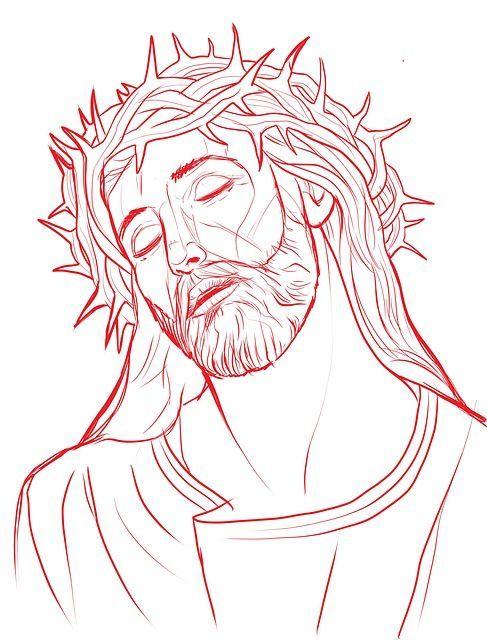 Jesus Mit Blume Und Dornenkrone Tattoo Tatuagem