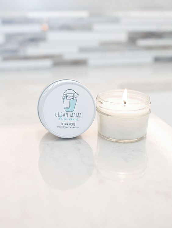 Beautifully scented soy based candles from Clean Mama Home ...