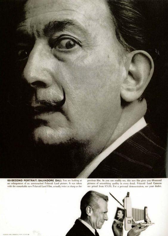 Polaroid ad featuring Salvador Dali