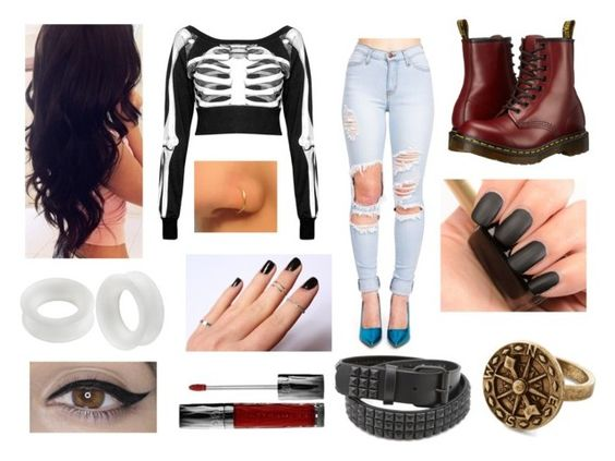 """""""Chapter One."""" by amanda-gail on Polyvore featuring Dr. Martens, L'Oréal Paris and Urban Decay"""