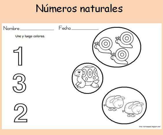 Actividad para niños de 3-4 años sobre los números ...