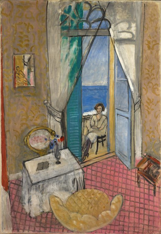 "Henri Matisse    French, 1869–1954    ""Interior at Nice,"" 1919 or 1920.  Oil on canvas  52 x 35 in. (132.1 x 88.9 cm) at SAIC."