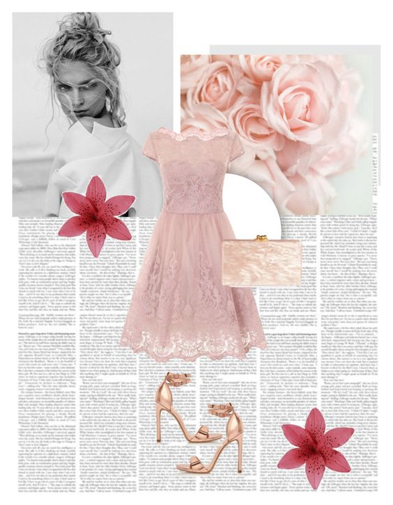 """Prom dress"" by merimasworld ❤ liked on Polyvore featuring Chi Chi, River Island and Edie Parker"