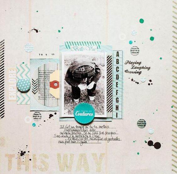 Sous toute les coutures by Marinette - Texturize, TEX04 & TEX-01, cards & blue button