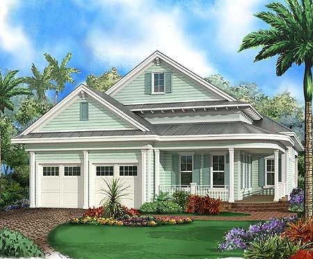 House plans florida style and fit on pinterest for Florida house plans for narrow lots