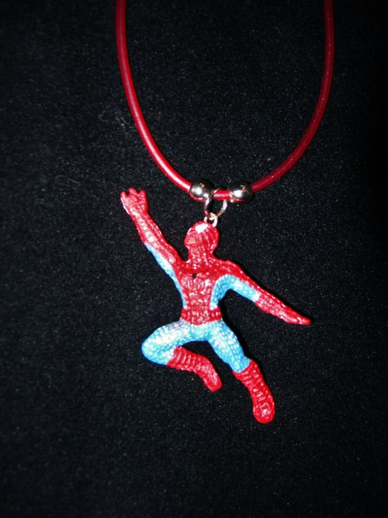 Spiderman Flying Necklace18 in by JudysEtsyStore on Etsy, $5.99...Boys love thie necklace