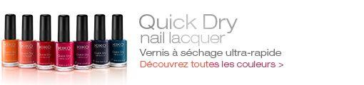 Quick Dry Nail Lacquer - KIKO MAKE UP MILANO