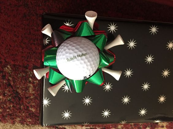 Custome golf ball with tees bow