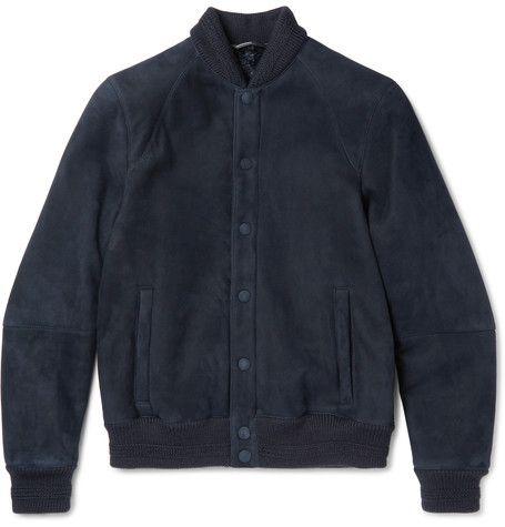 GIORGIO ARMANI Shearling Bomber Jacket. #giorgioarmani #cloth #coats and jackets