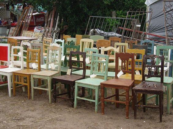 Warrenton, TX Antique Market - Day in the Fields.  Grab a Seat!