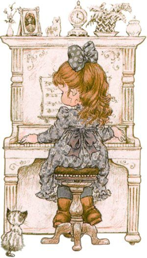 Sarah Kay. ...... J.M. at the piano taking her lessons.  B.