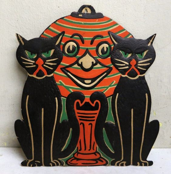 vintage halloween decorations of the 1960s lot of vintage halloween decorations ebay - Halloween Decorations Ebay