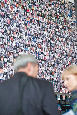 The Newseum Journalists Memorial.