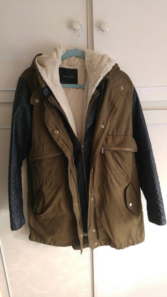 Khaki Leather Parka