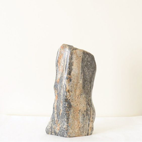 Amazing Stone Granite VaseOrganic Shape Hand Carved by Sevenstone