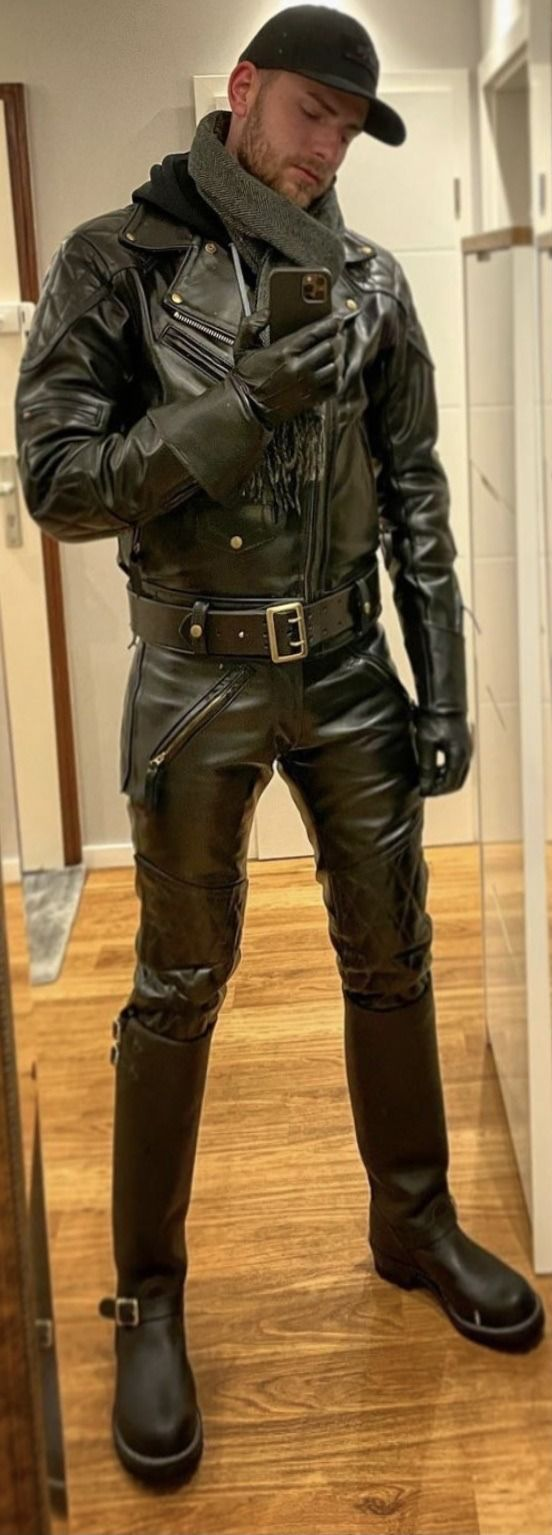 Erotician On Twitter In 2021 Mens Leather Clothing Leather Tight Leather Pants [ 1535 x 552 Pixel ]