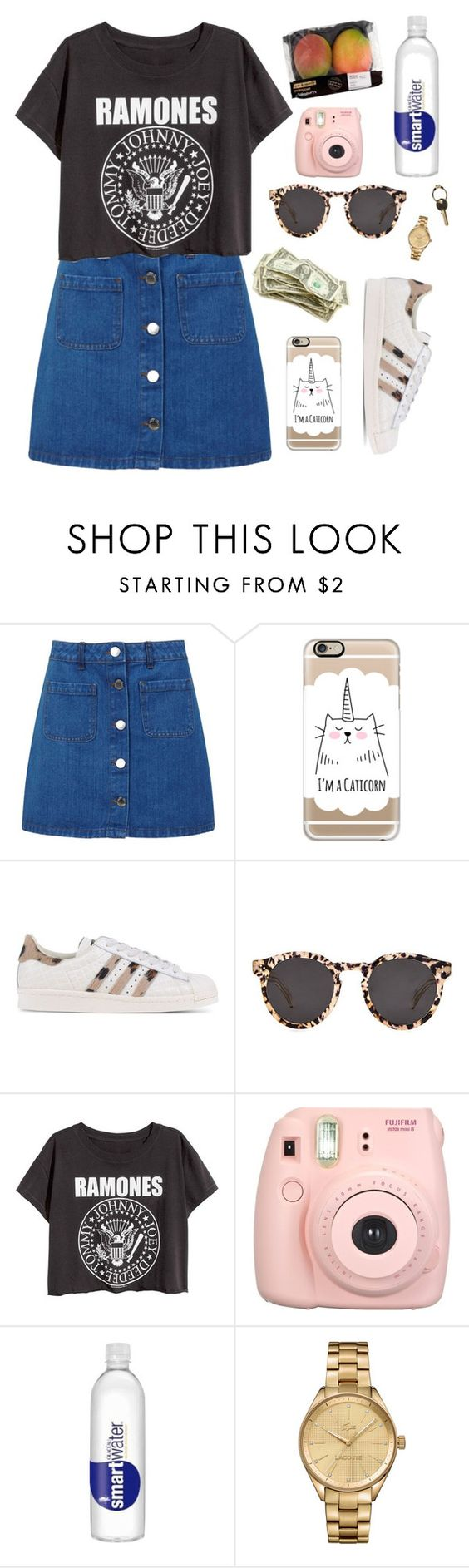 """""""Sin título #564"""" by mary-nava ❤ liked on Polyvore featuring Miss Selfridge, Casetify, adidas Originals, Illesteva, Fujifilm, Lacoste and Maison Margiela"""