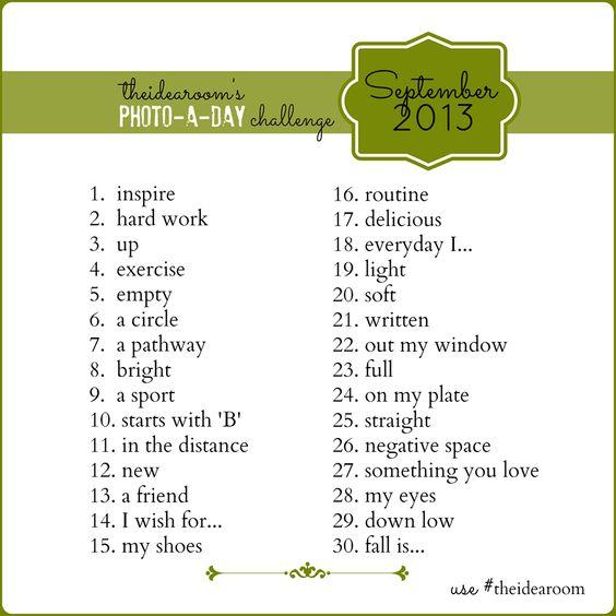 September Photo-a-Day Challenge | theidearoom.net