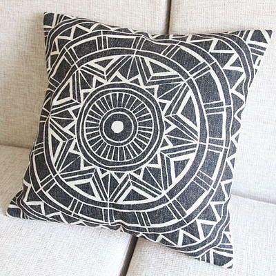 "New Fashion Multi Beige Geometric Decor Pillow Case Cushion Cover Square 18"""