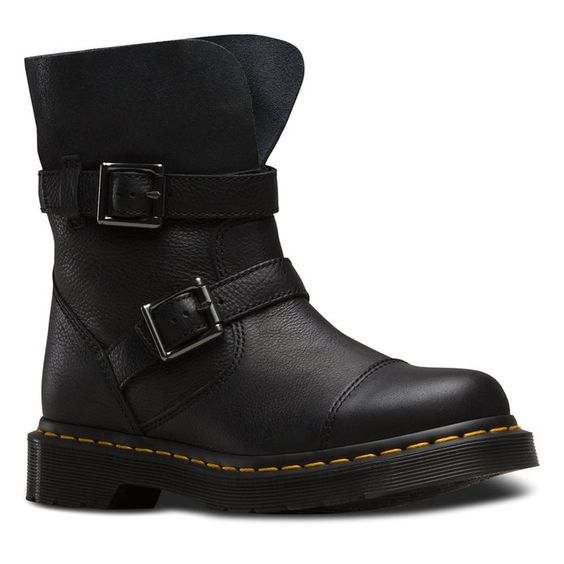 Amazon.com | Dr. Martens Women's Kristy Slouch Rigger Leather Fashion Boots | Ankle & Bootie