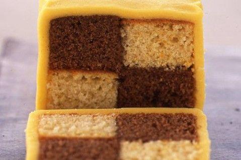 Chocolate orange battenburg cake recipe - goodtoknow