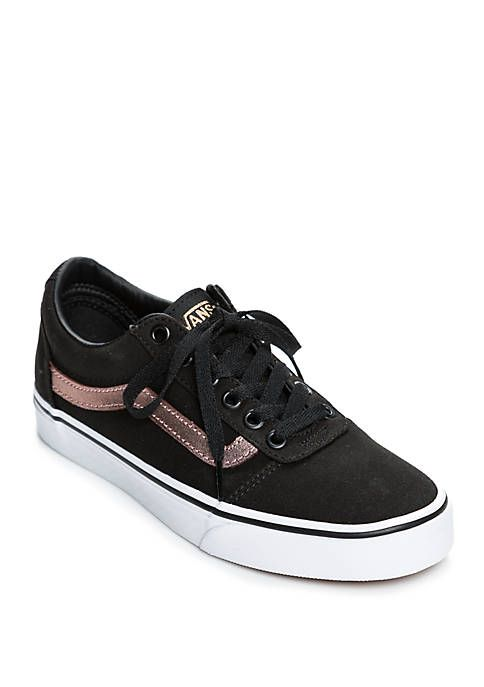 Vans Ward Sneaker In Black And Rose Gold With Images Rose