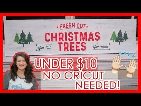 Diy Christmas Wood Sign Farmhouse Christmas Decor No Cricut Needed Youtube Christmas Signs Wood Christmas Diy Wood Diy Christmas Videos