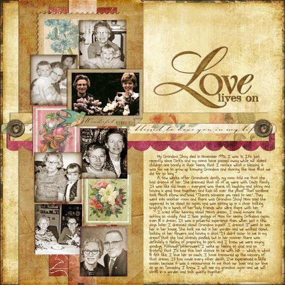 Love Lives On - Heritage Family - Gallery - Scrap Girls Digital Scrapbooking Forum