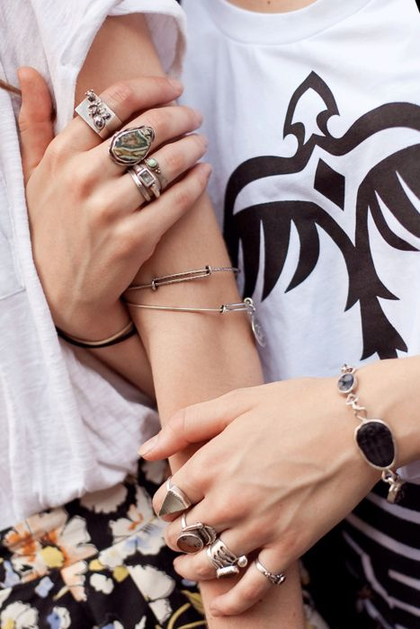 prints, rings, bangles: