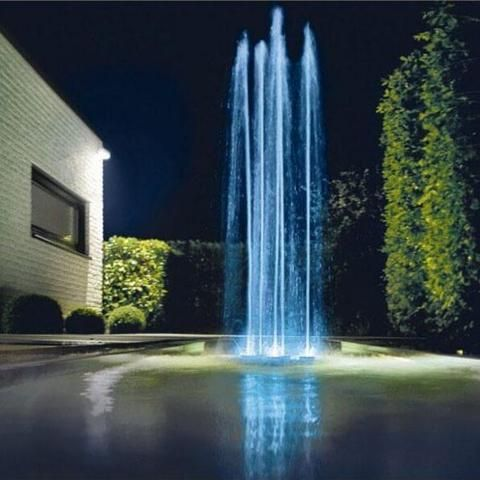 Oase Water Quintet Lighted Jumping Jet Fountain Water Features Backyard Fountain Feature
