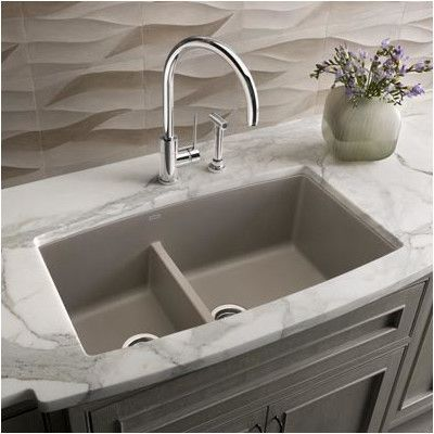 "You'll love the Performa 33"" x 19"" Silgranit II 1.75 Double Bowl Undermount Kitchen Sink at AllModern - With Great Deals on modern Renovation products and Free Shipping on most stuff, even the big stuff."