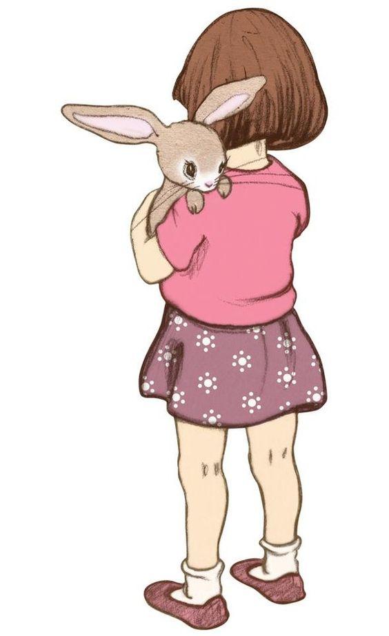 Este desenho lembra a Bi, com o seu coelhinho.