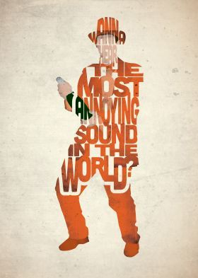 steel canvas Movies & TV dumb dumber movie film type typography orange