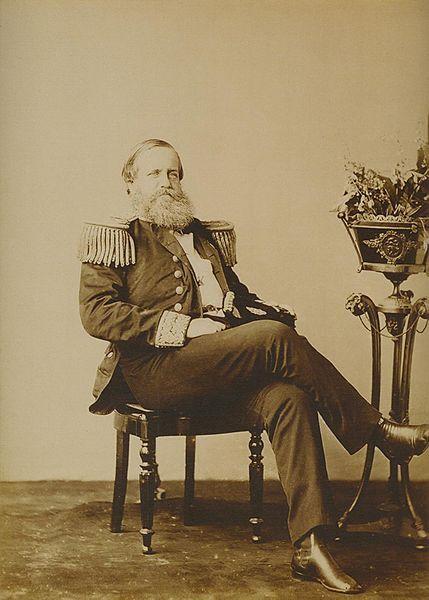 D. Pedro II, em fotografia tirada em 1870: