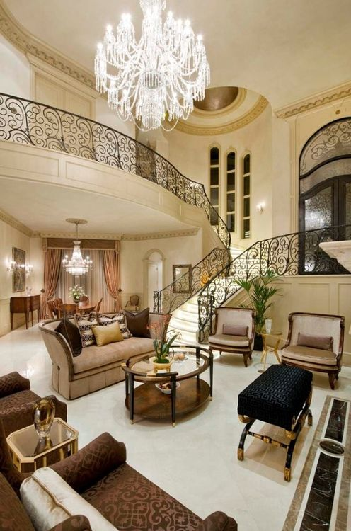 Luxury living luxury living rooms and luxury on pinterest for Beautiful sitting rooms