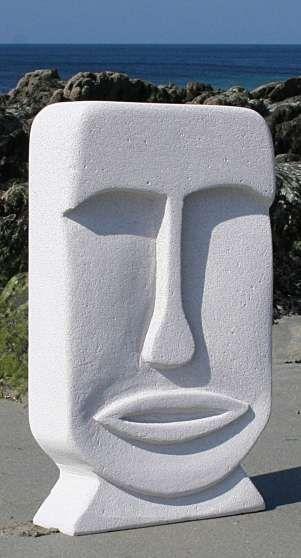 Sculpture belle and art on pinterest for Ceramique exterieur sur beton