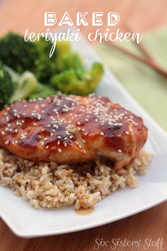 Baked Teriyaki Chicken Recipe from SixSistersStuff.com. A healthy meal your whole family will love! #sixsistersstuff