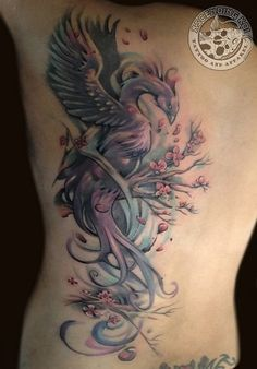 Phoenix tattoo. Love this style!