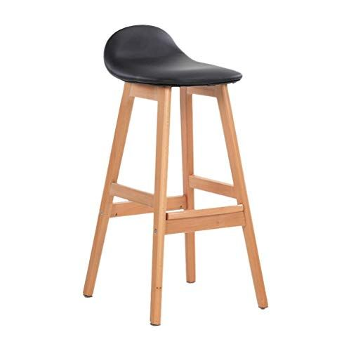Bar Stools Artificial Leather Wood Creative Bar Chair High Stool Bar Stools With Square Base Huyp Color Black Size High Bar Stools Bar Stools High Stool