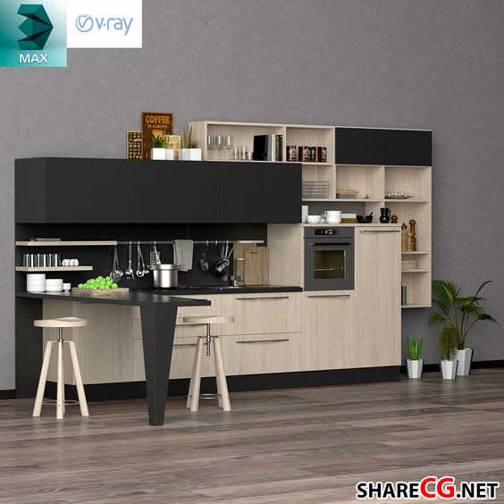 Kitchen Cabinets Casework - Kitchen modules - MX-0000038